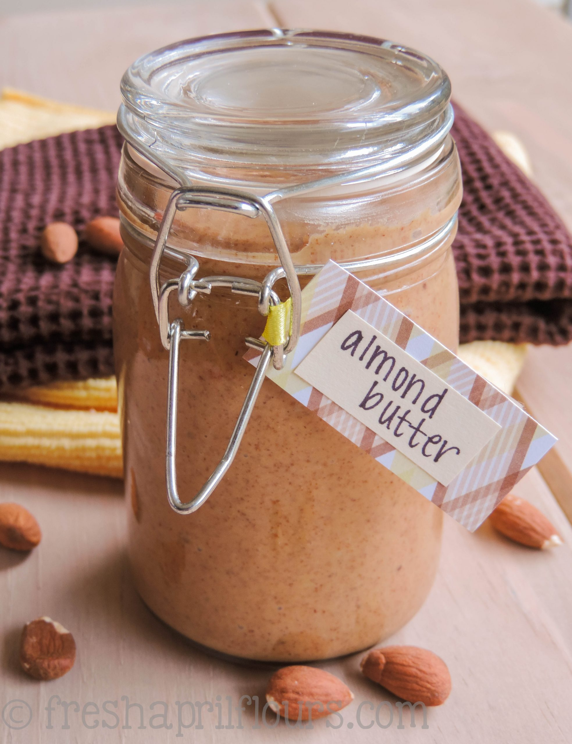 Homemade Honey Roasted Almond Butter: Making almond butter at home is much easier than you think. Never spend $11 on a jar again!