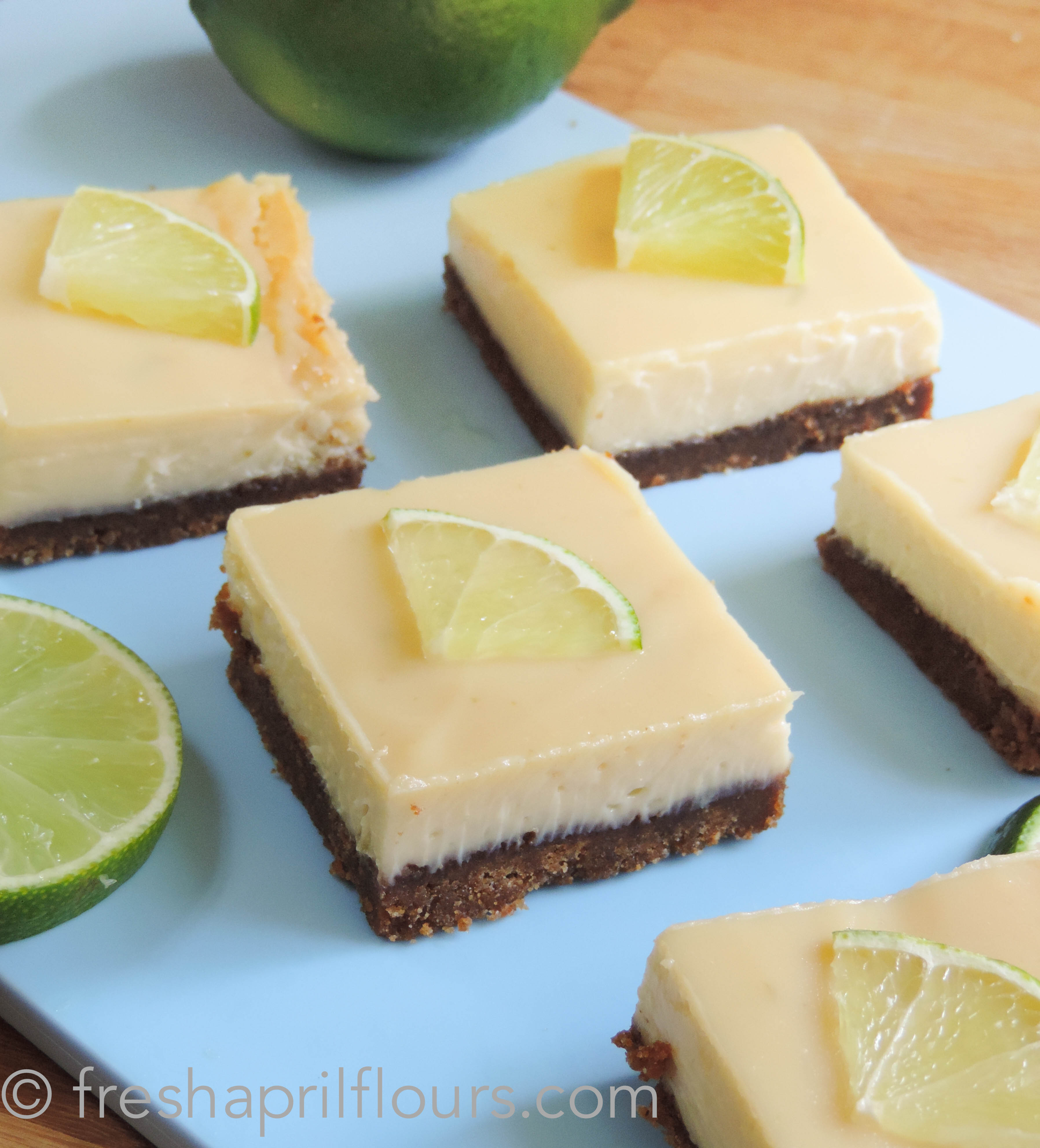 Key Lime Pie Bars: a creamy tart filling on top of a buttery graham ...