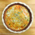 Cheesy Vegetable Quiche with Cauliflower Crust
