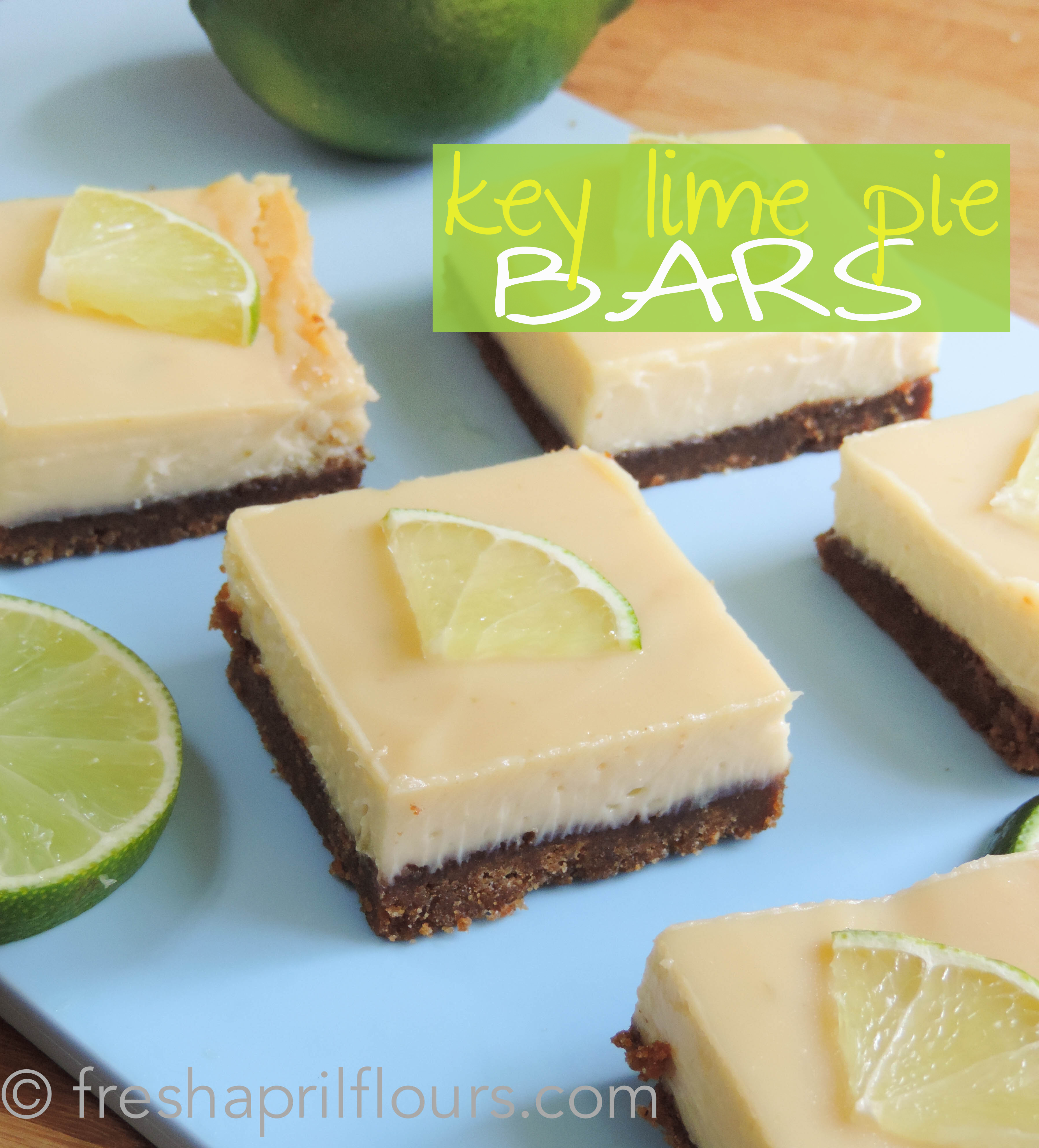 Key Lime Pie Bars: A creamy, tart filling sits on top of a buttery graham cracker crust... And so much easier than a whole pie!