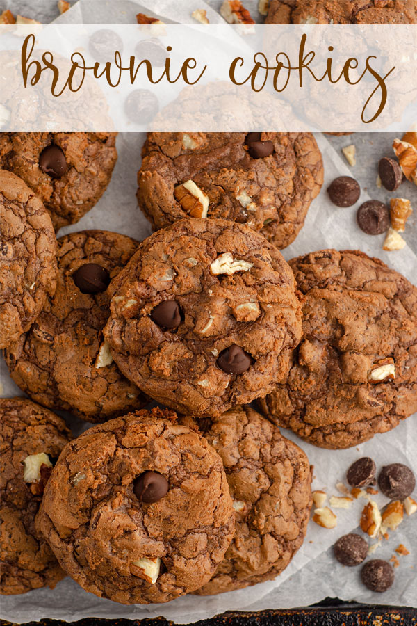 With a gooey center and signature crackly top like a brownie and a crisp exterior like a cookie, this brownie cookie is the best of both dessert worlds!