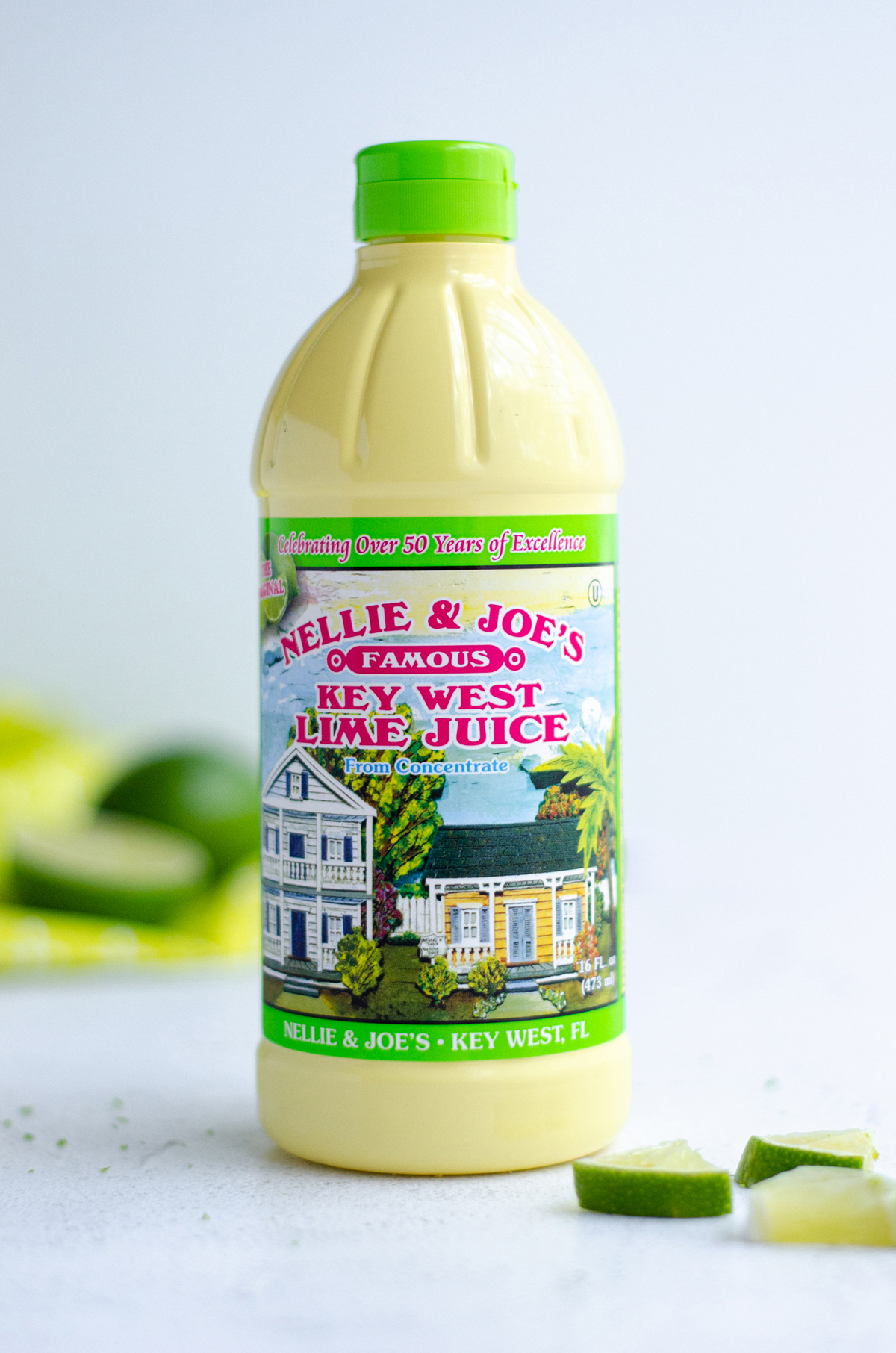 bottle of key lime juice