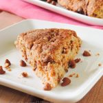 Cinnamon Crunch Scones: Buttery, tender scones that are full of sweet cinnamon flavor and not the least bit dry. The sweet crunch on top is the best part!