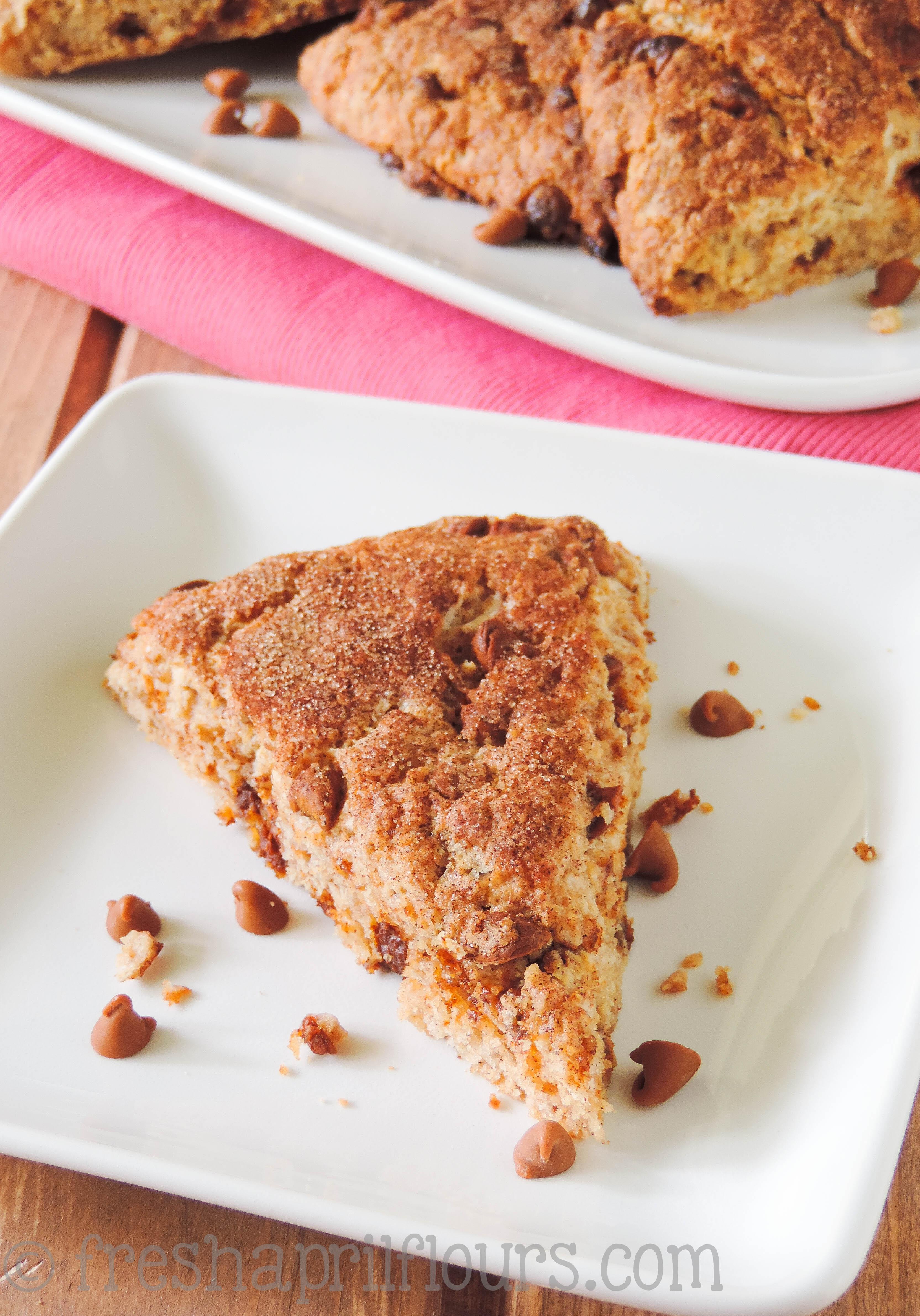 Cinnamon Crunch Scones: buttery, tender, and full of sweet cinnamon flavor.