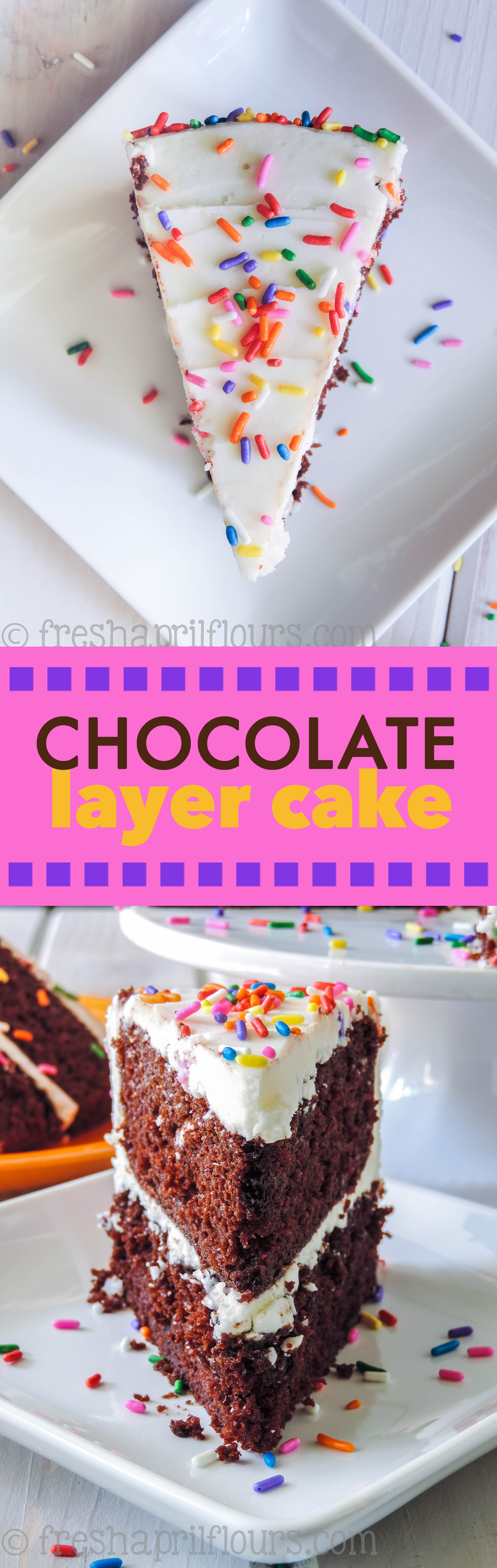 Chocolate Layer Cake: Soft, moist, and smooth chocolate cake with the richest chocolate flavor you'll ever taste. Super easy and only one bowl needed!
