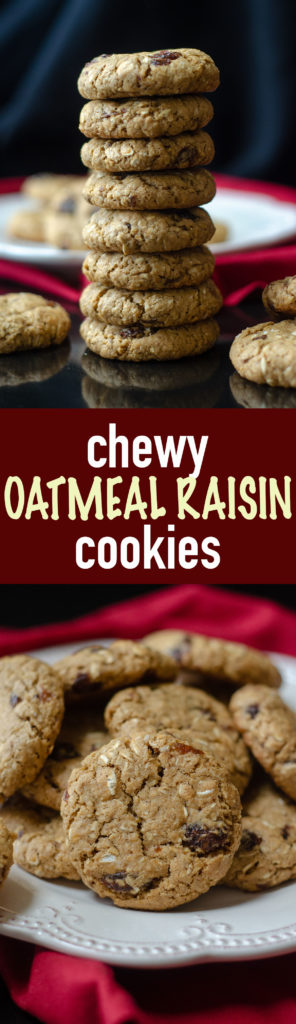 Chewy Oatmeal Raisin Cookies: These oatmeal raisin cookies are chewy, buttery, and sweetened with brown sugar and molasses.