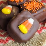 A gooey, nutty, and spicy blend of pumpkin and peanut butter, sandwiched between two pretzels and topped off with a chocolate coating. This is one flavor combination you must try for fall!