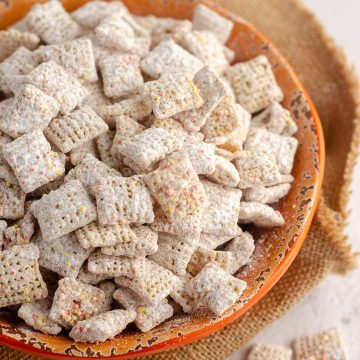 Pumpkin Spice Puppy Chow: This fall inspired version of the popular snack is bursting with pumpkin and cinnamon flavor in every crunchy bite.