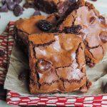 Chocolate Cherry Chunk Brownies