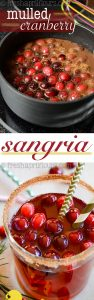 Mulled Cranberry Sangria: A lightly sweetened sangria flavored with cranberries that have been mulled in cinnamon and cloves.