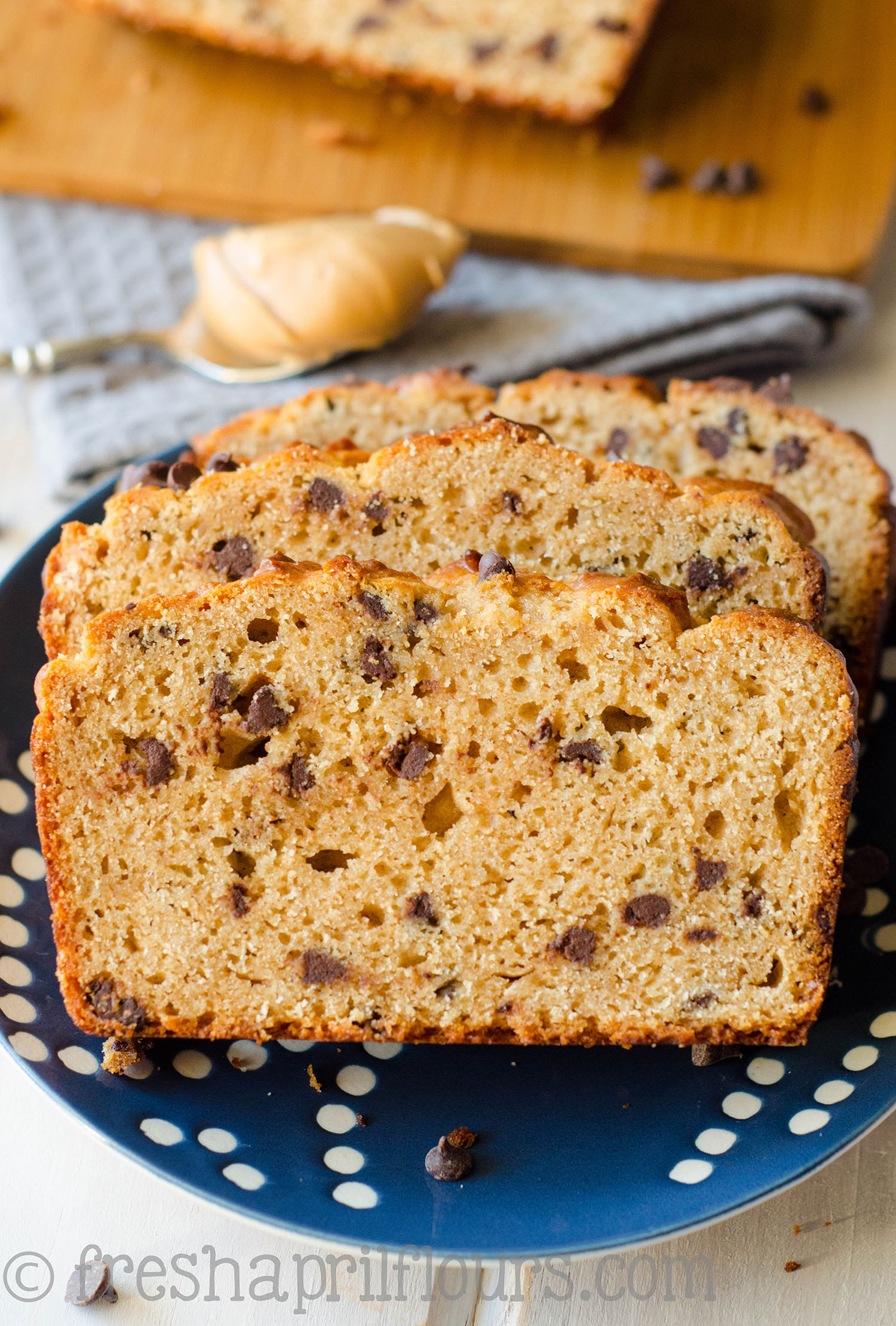 Chocolate Chip Peanut Butter Bread