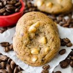 Cappuccino Cookies: Tender coffee flavored cookies studded with creamy white chocolate chips.