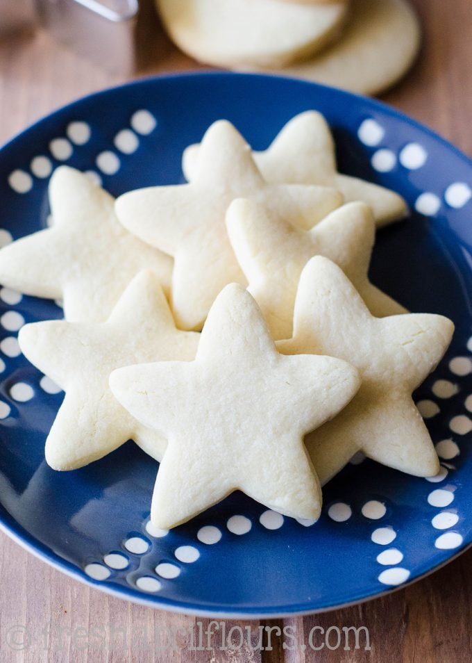 Easy Cut Out Sugar Cookies: No dough chilling necessary for these soft cut-out sugar cookies that are perfect for decorating with icing and sprinkles. Crisp edges, soft centers, and completely customizable in flavor and shape!
