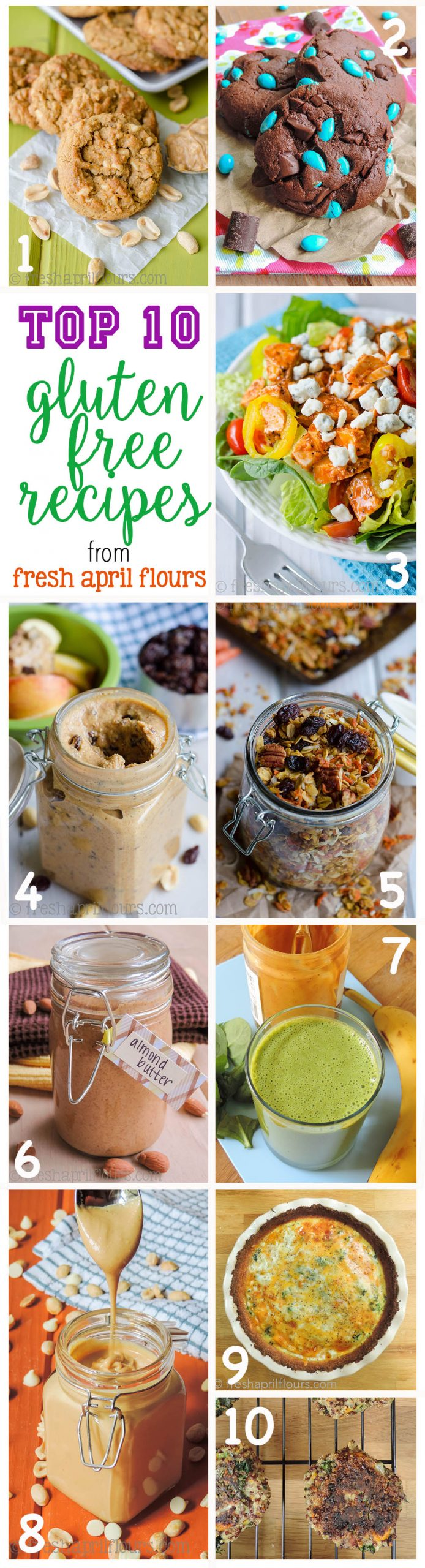 Top 10 Gluten Free Recipes from Fresh April Flours