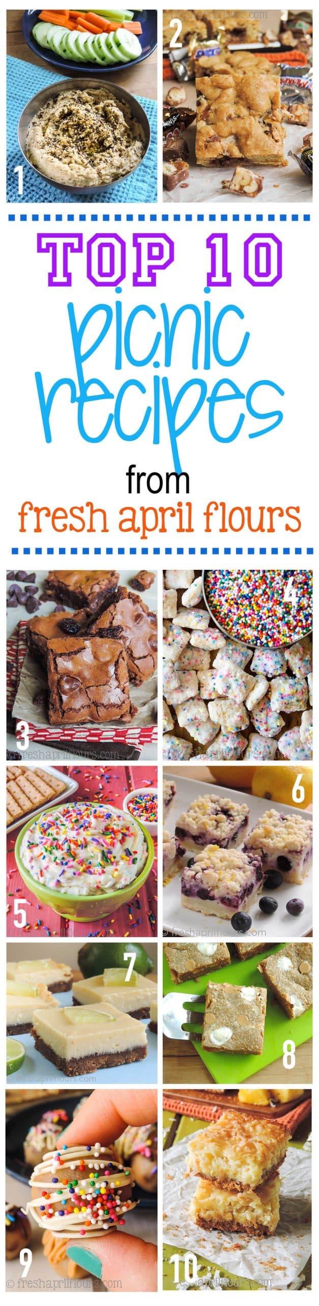 Top 10 Picnic Recipes from Fresh April Flours