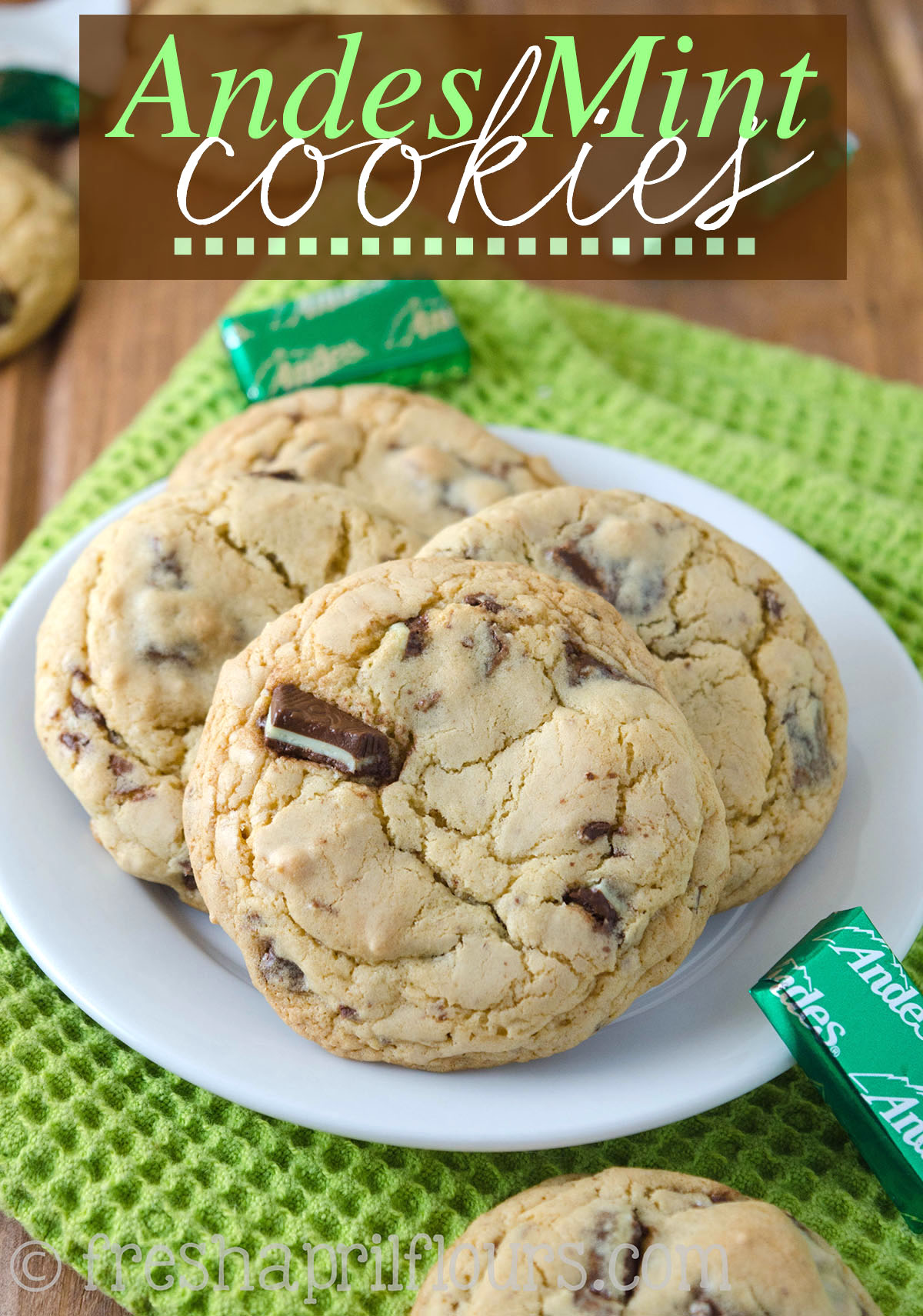 Chocolate Chip Cookies With Fresh Mint