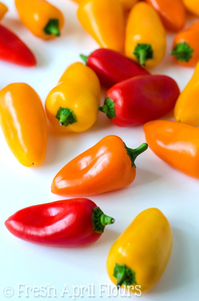 """Philly Cheesesteak Stuffed Mini Peppers: Don't let the """"mini"""" part fool you-- these bite-size peppers are packed with tons of flavor!"""