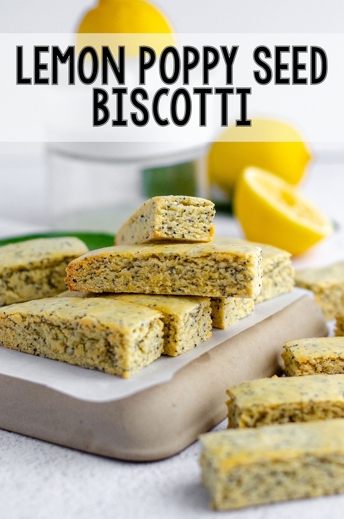 Bright and sunny biscotti with the perfect amount of crunch on the outside and a tender, flavorful center.