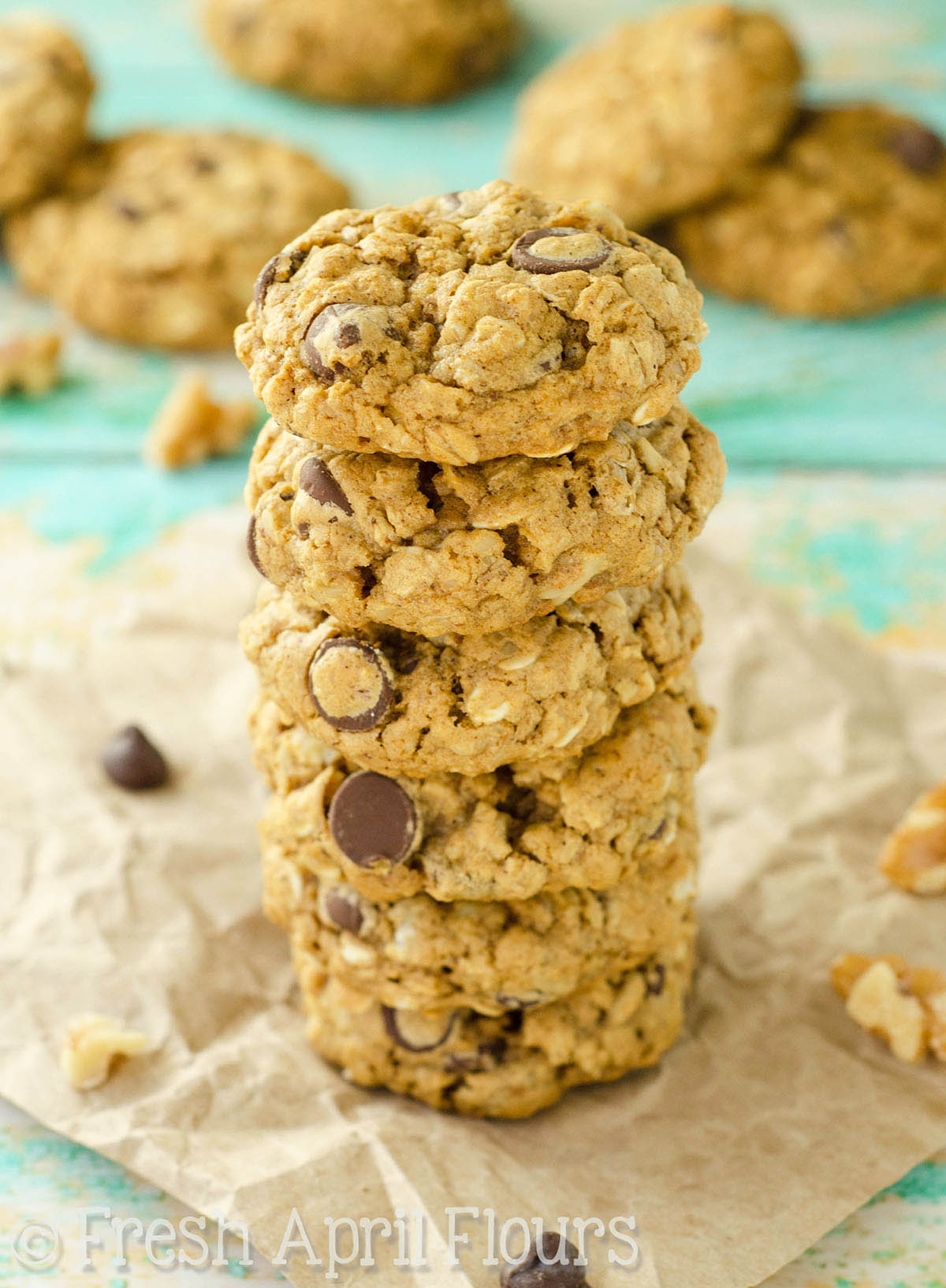 Oatmeal Chocolate Chip Walnut Cookies