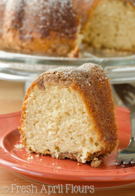 Cinnamon Streusel Coffee Cake: Classic coffee cake with a buttery cinnamon streusel on the top AND bottom of each slice. Just what you need to go with your cup of Joe!