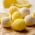 lemon truffles on parchment