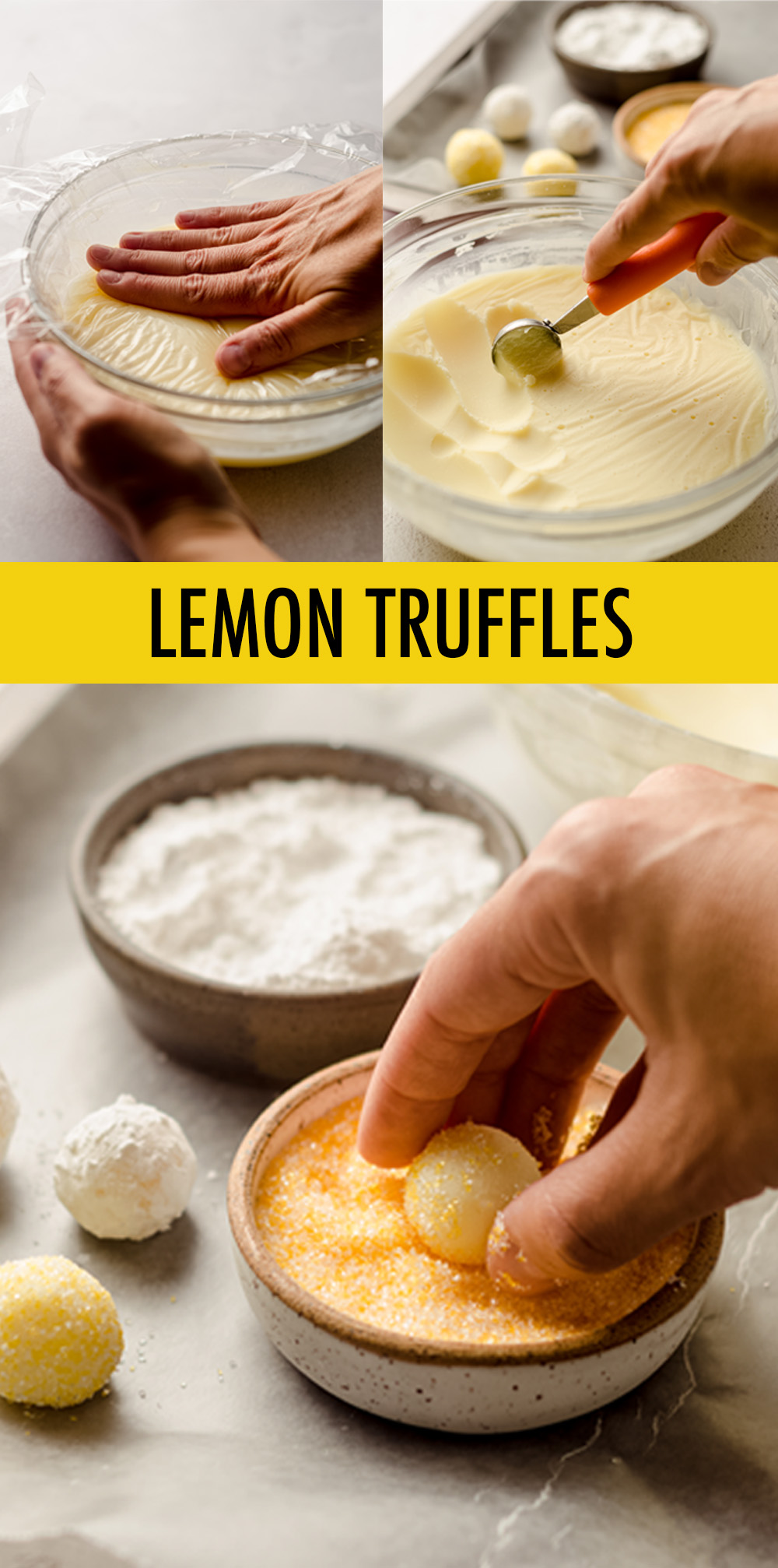 Smooth and creamy truffles full of lemon flavor and rolled in bright and sunny sprinkles. Easy to follow instructions will make you feel like a candy-making expert!