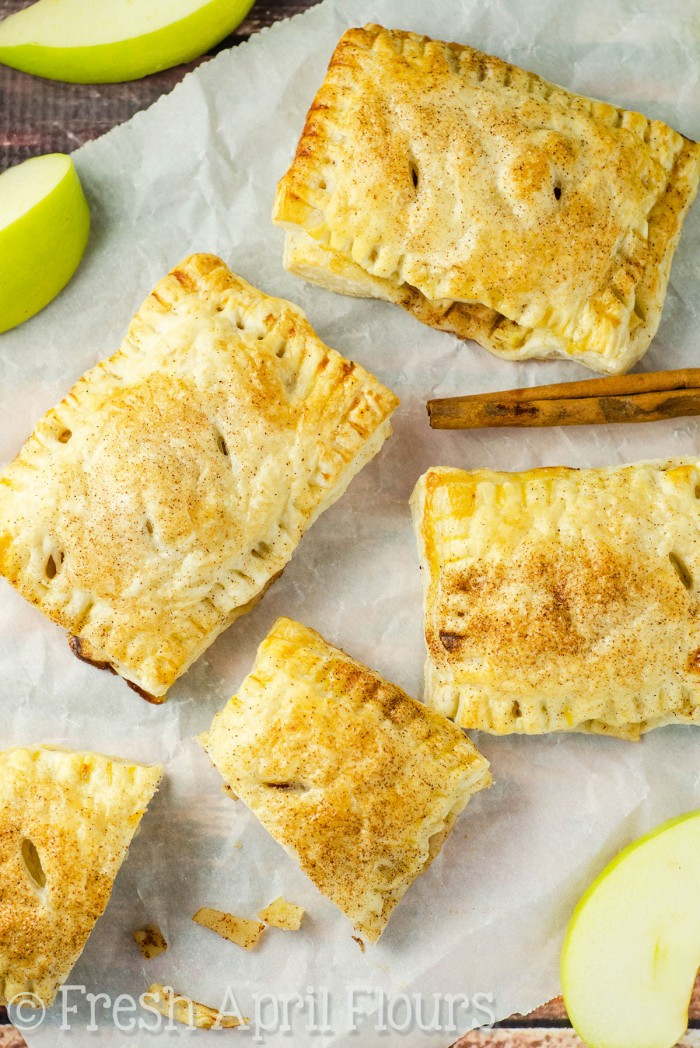 Apple Hand Pies: Simple handheld pies filled with spiced apples and made with puff pastry for an easy assembly and even easier eating!