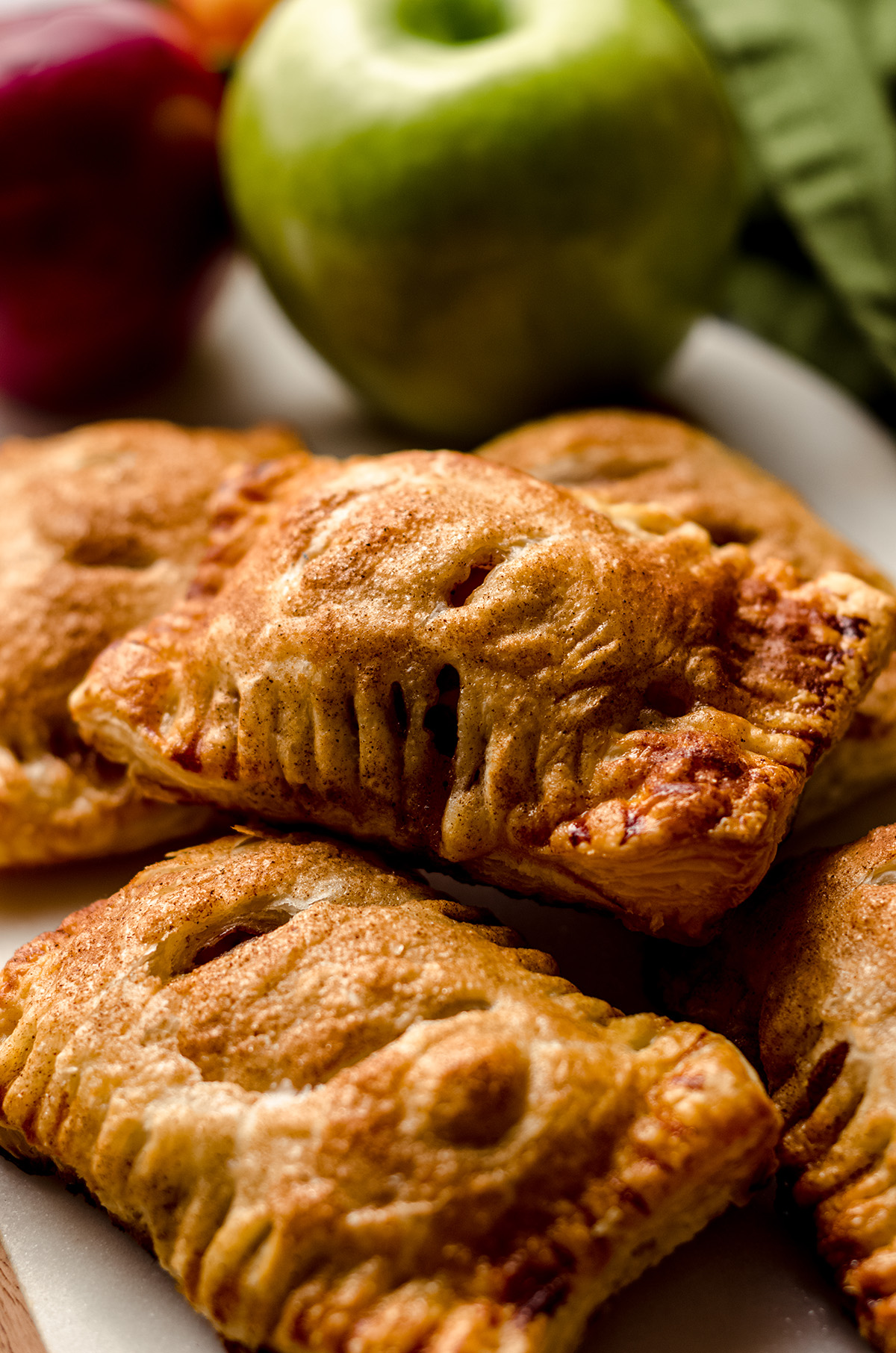 apple hand pies on a platter