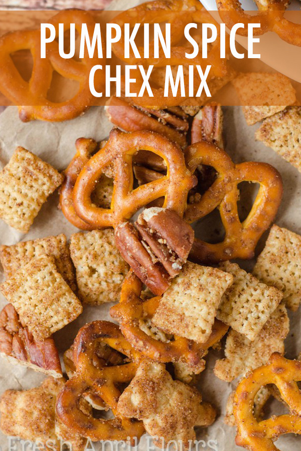 A sweet and salty snack mix packed with pumpkin spice flavor. A must-have for cozy weather snacking!