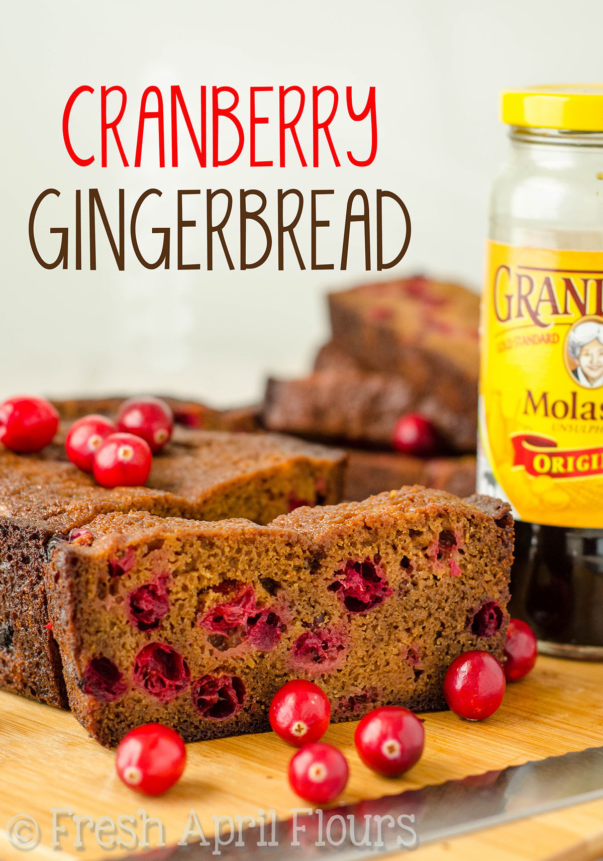 Cranberry Gingerbread: Perfectly tender and spicy quick bread studded with tart, juicy cranberries. Perfect for Thanksgiving, Christmas, or any day in between!