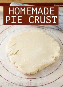 My Favorite Homemade Pie Crust: Learn how to make your own buttery, flaky, perfect pie crust at home. This recipe makes a double pie crust.