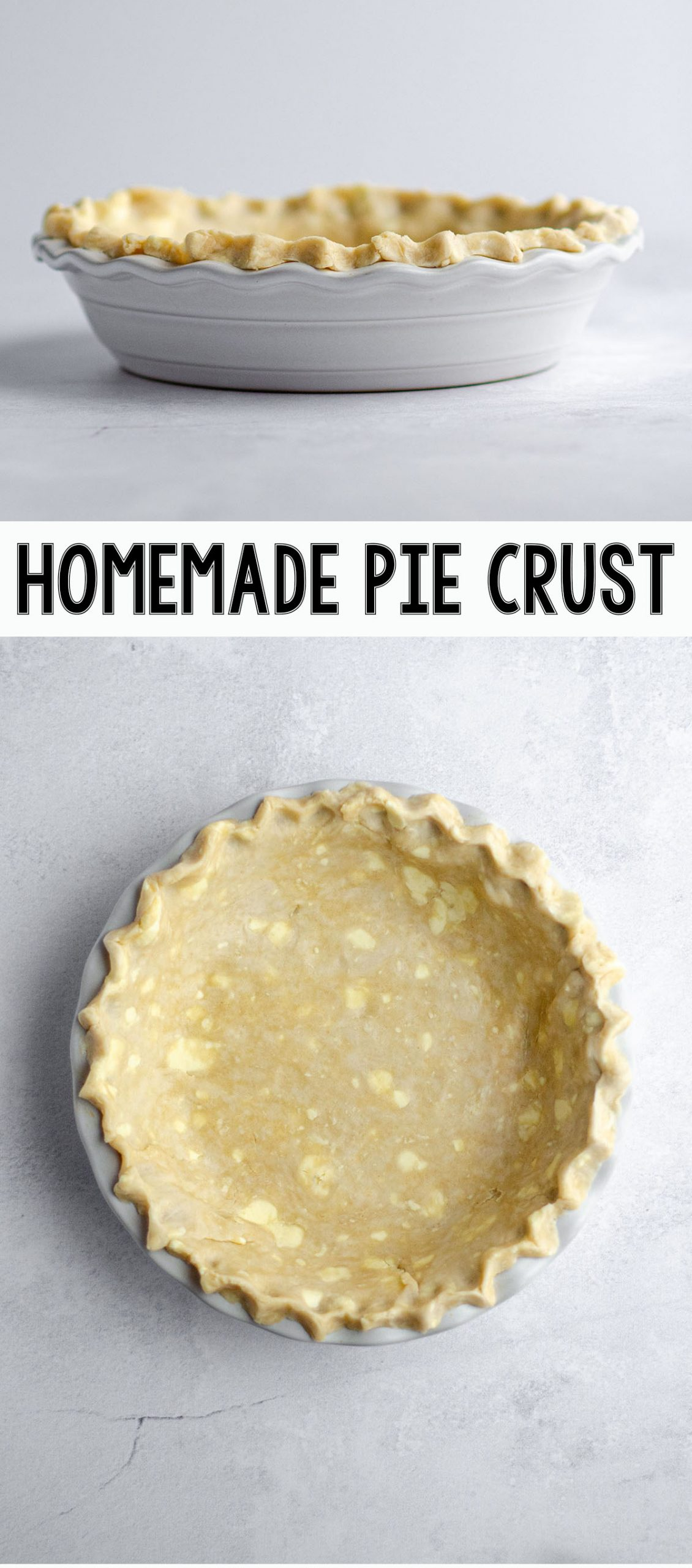 Learn how to make your own buttery, flaky, perfect pie crust at home. This recipe makes a double pie crust.