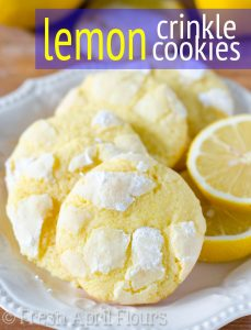 Lemon Crinkle Cookies: Sweet and tart crinkle cookies bursting with bright lemon flavor.