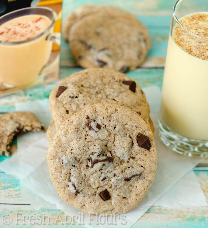 Eggnog Chocolate Chunk Cookies