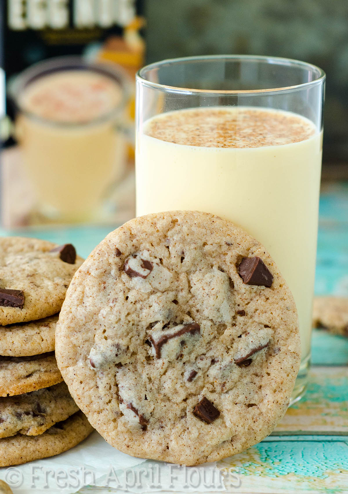 Eggnog Chocolate Chunk Cookies | Fresh April Flours