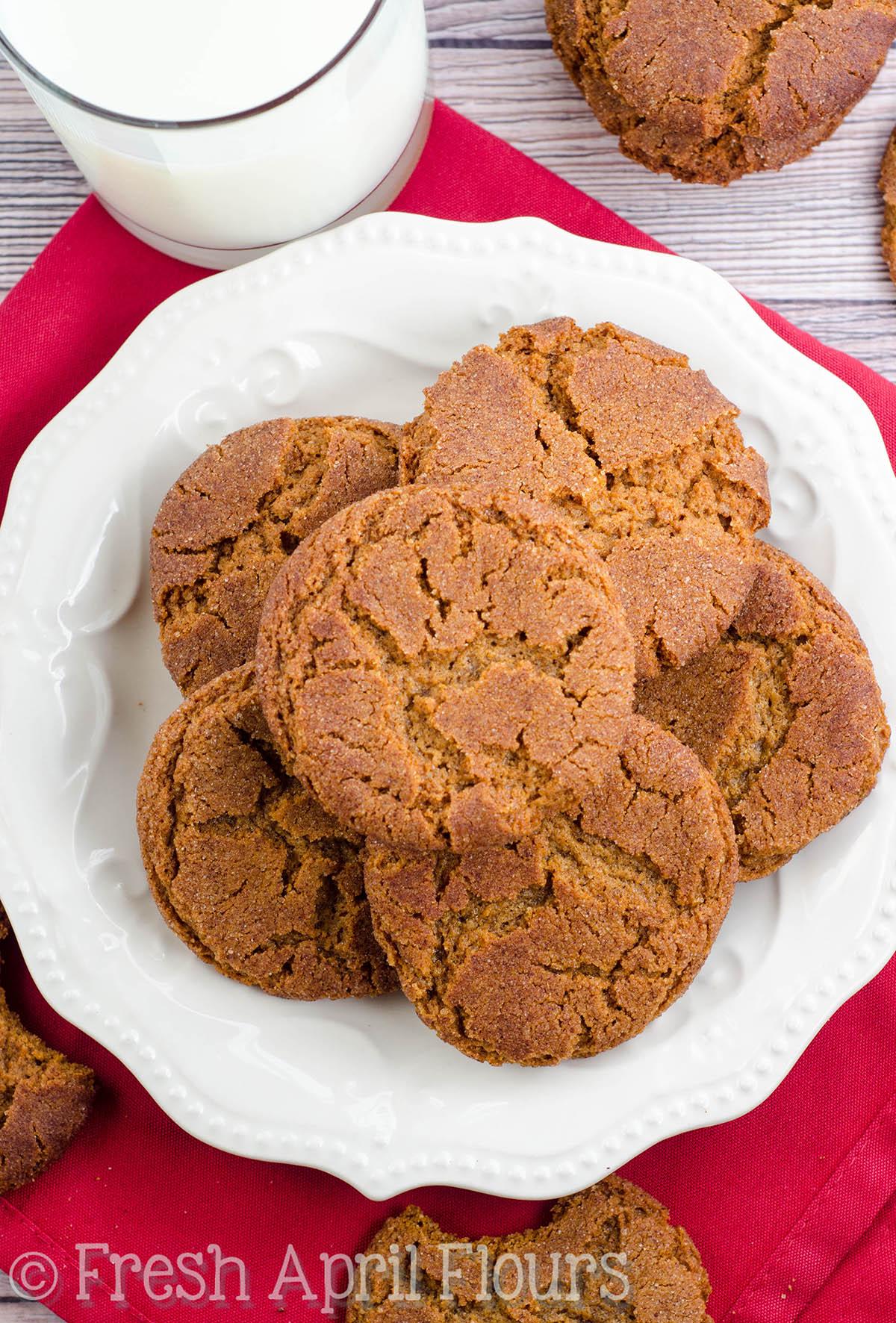 Gingersnap Cookies 2 Ways