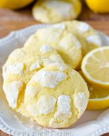 Lemon Crinkle Cookies: Sweet and tart crinkle cookies bursting with bright lemon flavor.