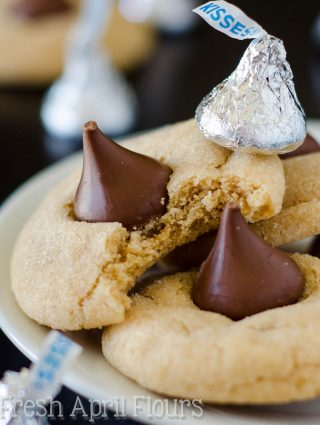 Peanut Butter Blossoms: Soft and chewy peanut butter cookies topped with a milk chocolate Hershey's Kiss.