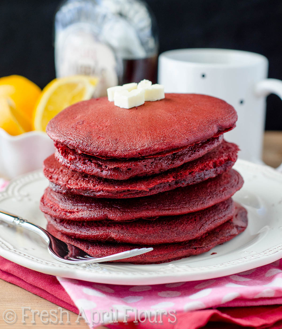 Red Velvet Pancakes From Cake Mix