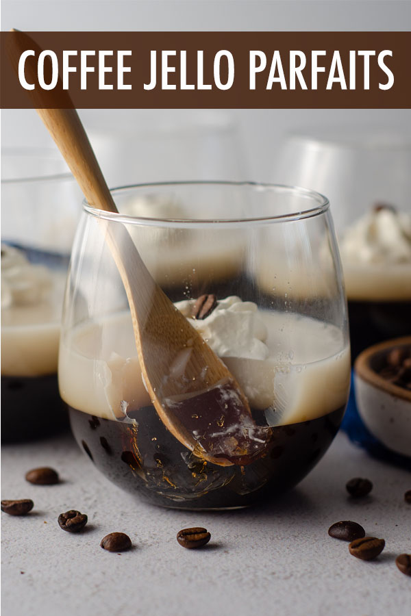 Easy gelatin parfait cups featuring layers of lightly sweetened coffee and rich cream. A creative way to serve coffee after dinner, during the summer, or just any time you're feeling fancy with your cup of Joe!