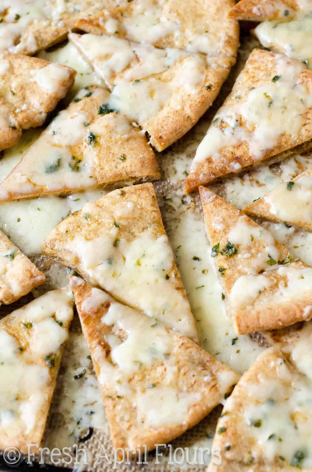 Homemade Cheese & Herb Pita Chips {VIDEO}