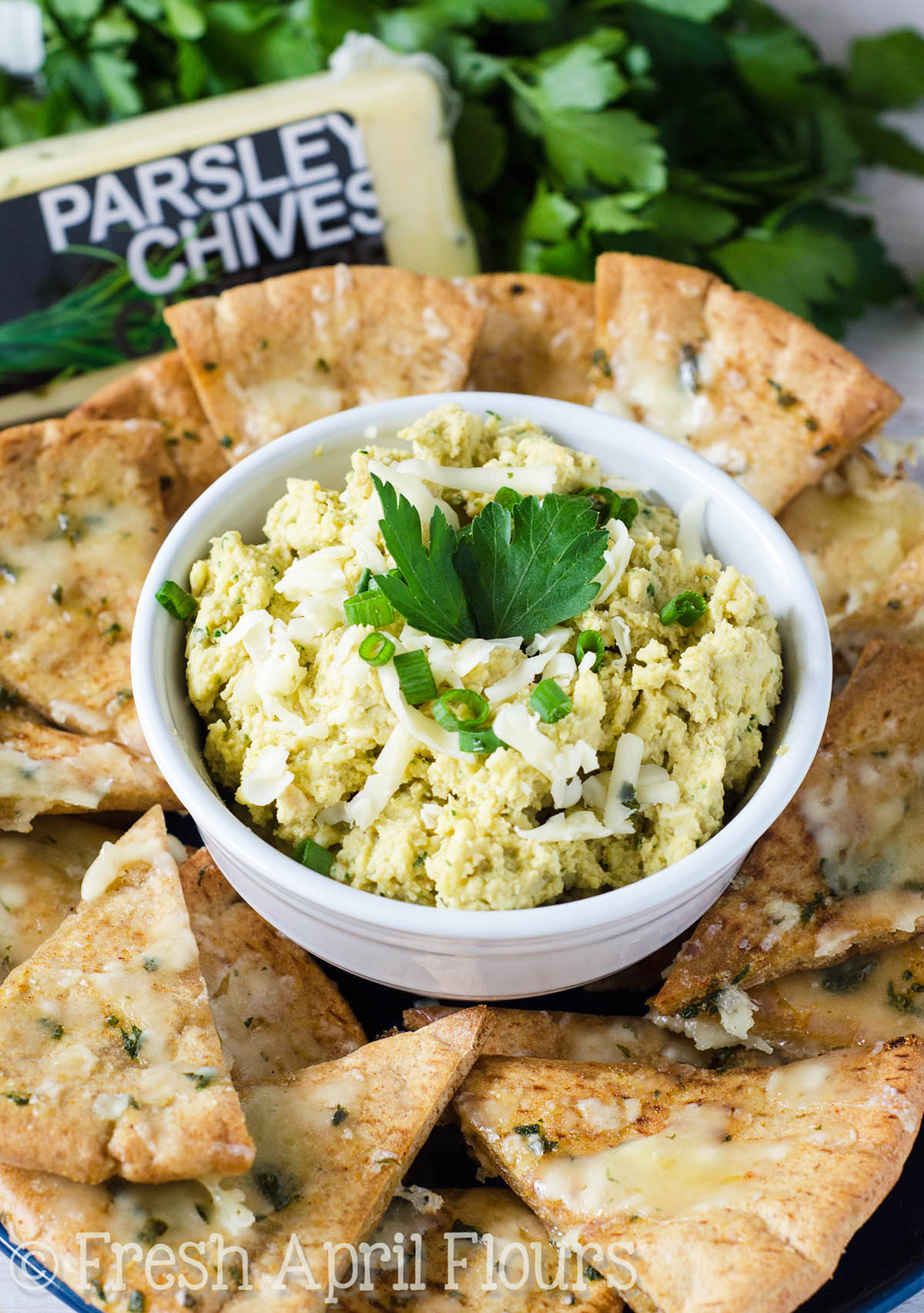 Cheesy Parsley & Chive Hummus {VIDEO}