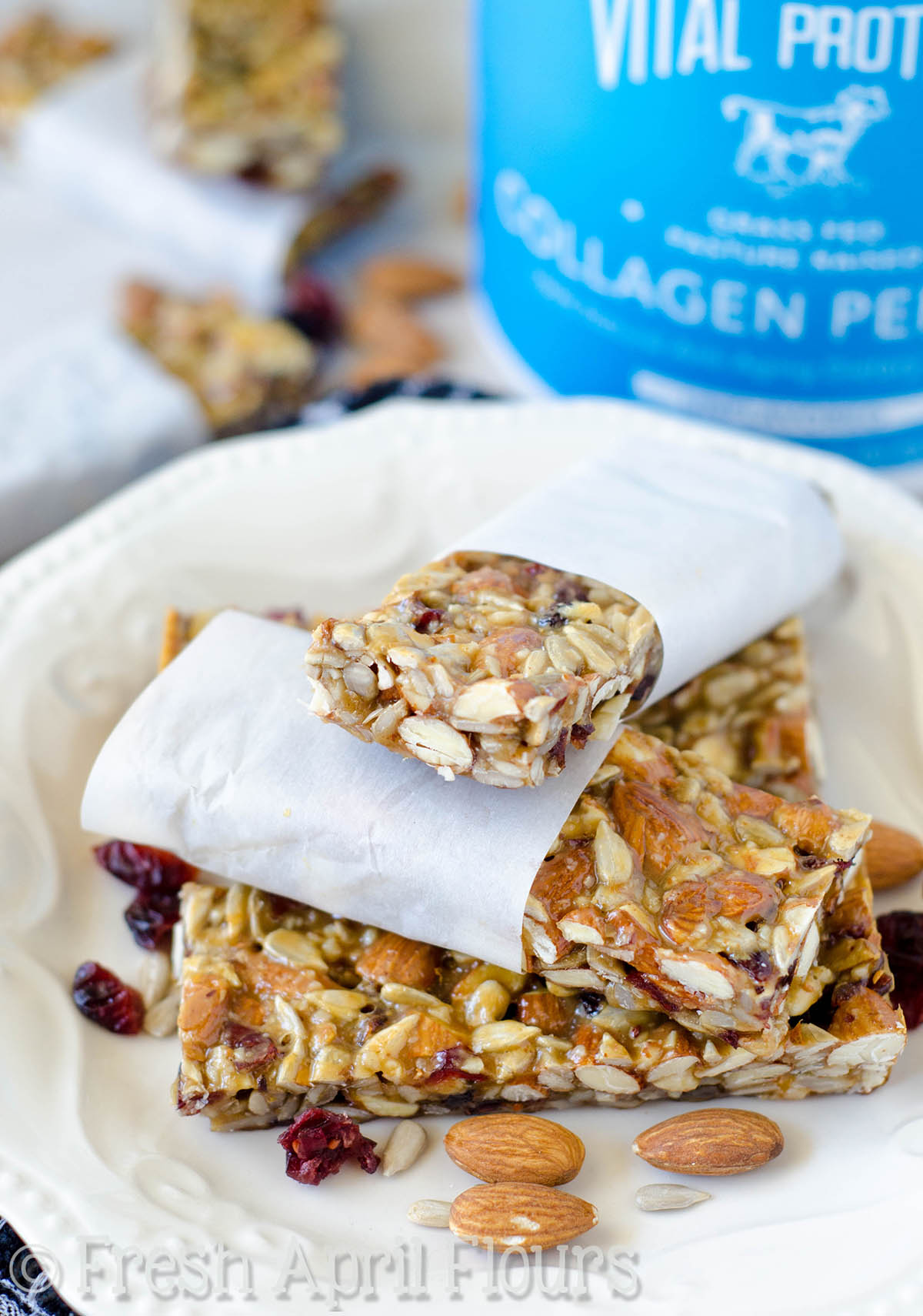 Cranberry Almond Vanilla Protein Bars