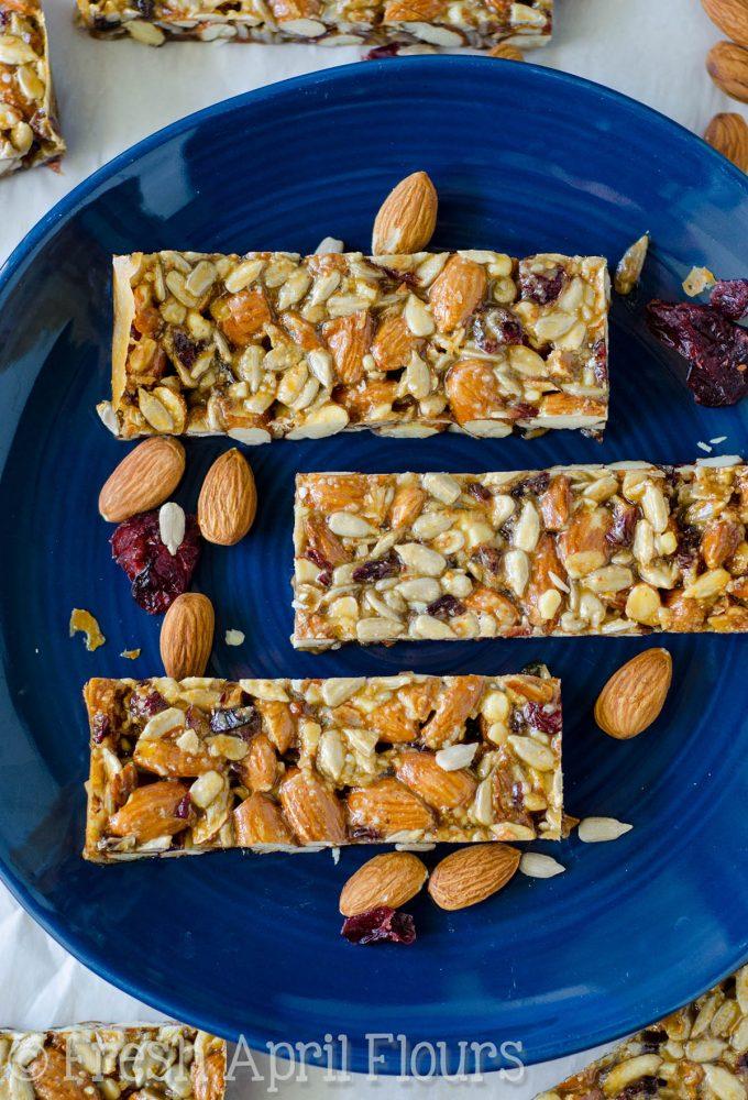 cranberry almond vanilla protein bars