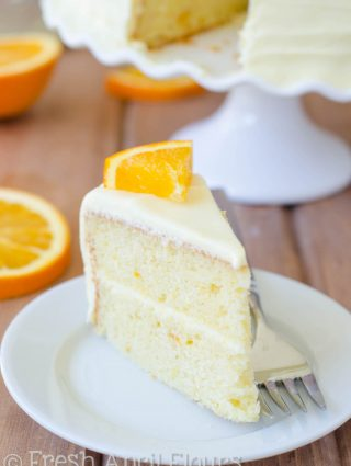 Orange Creamsicle Layer Cake