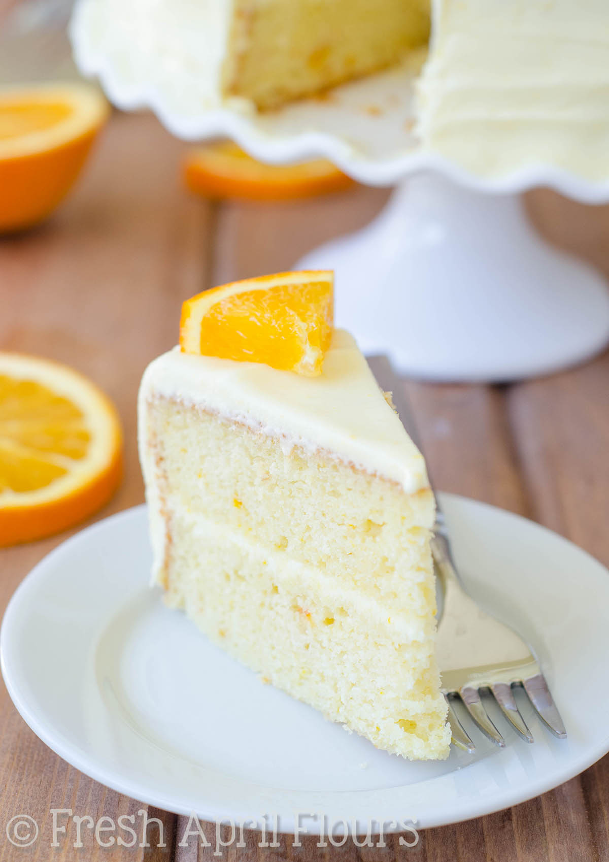 Orange Creamsicle Layer Cake: A moist and flavorful layer cake full of ...