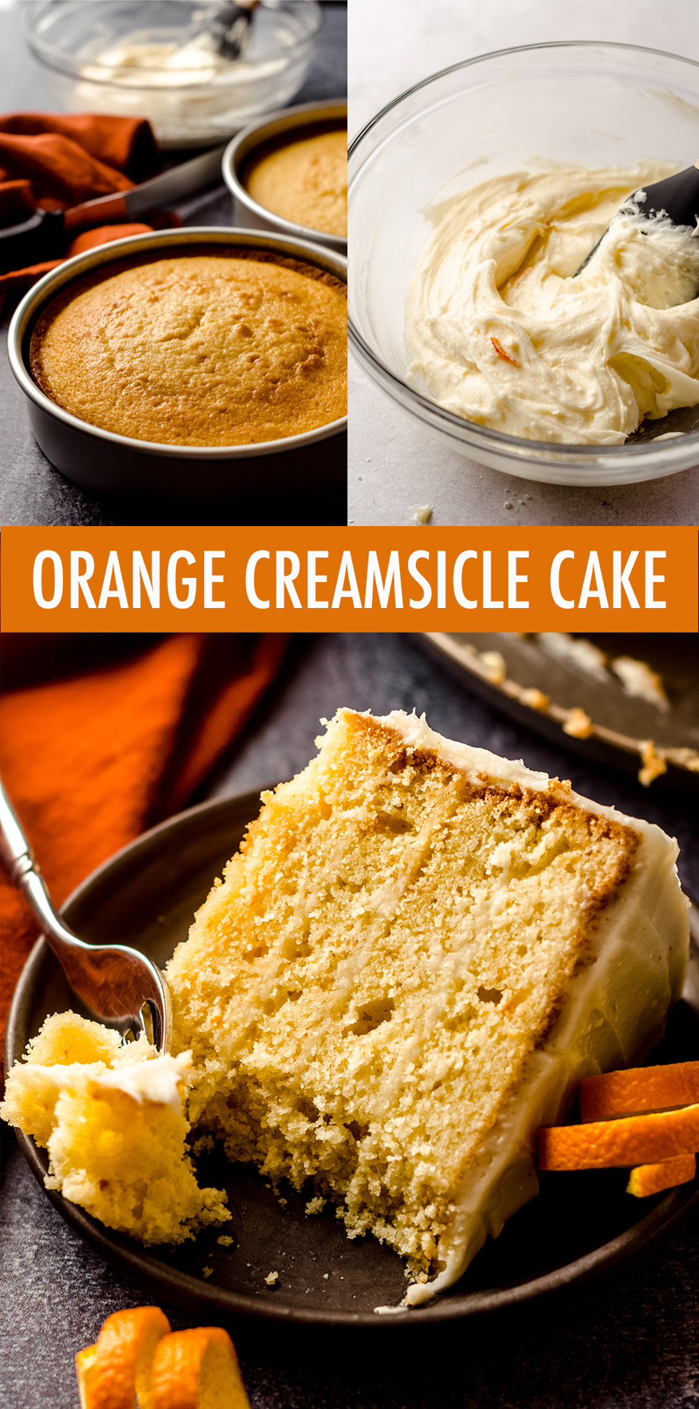 A moist and flavorful orange vanilla cake full of bright and zesty orange marmalade. Sunny orange cream cheese frosting makes this orange creamsicle cake simply irresistible!
