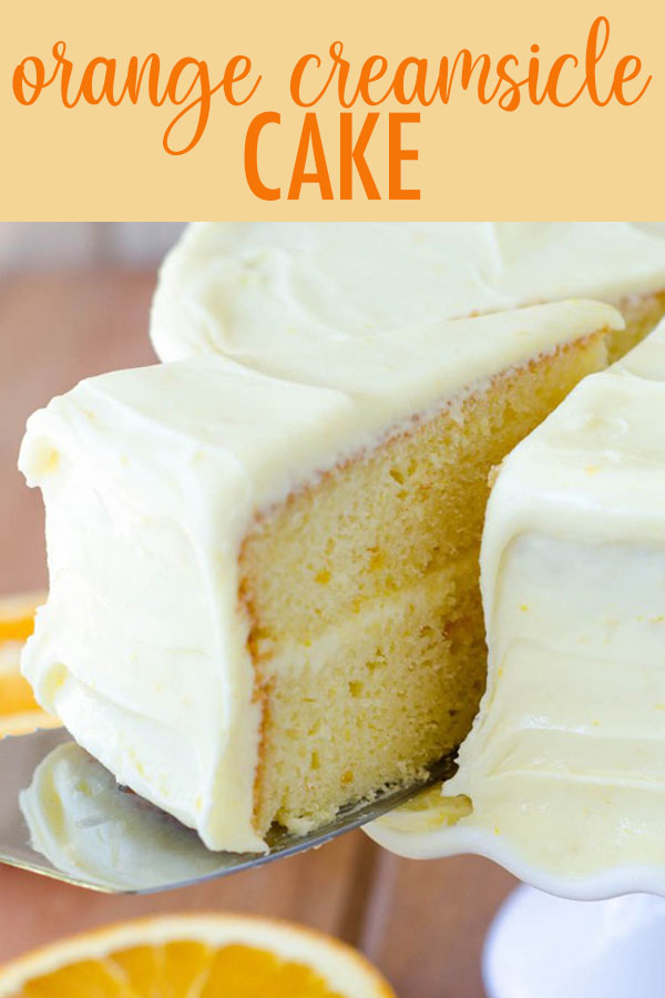 A moist and flavorful layer cake full of bright and zesty orange marmalade. Sunny orange cream cheese frosting makes this creamsicle cake irresistible!