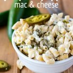 Jalapeño Popper Mac & Cheese: A quick and easy homemade macaroni and cheese filled with spicy jalapeños and green chiles.