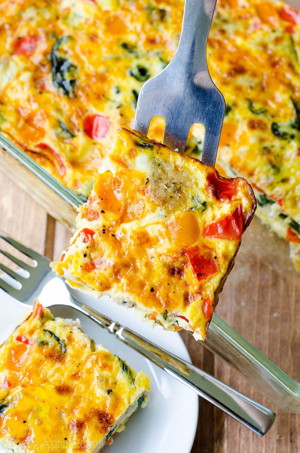 Make Ahead Breakfast Casserole: This overnight sausage, vegetable, and egg casserole can be frozen or made a day in advance for easy entertaining. Completely customizable and great for feeding a crowd!